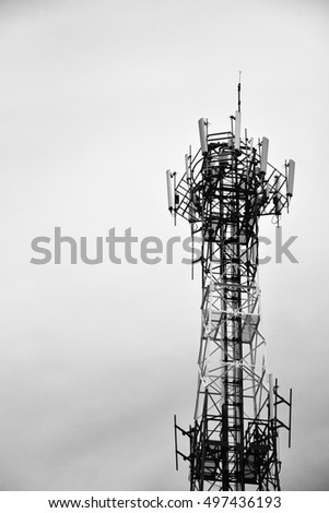 telephone station  in back and white color