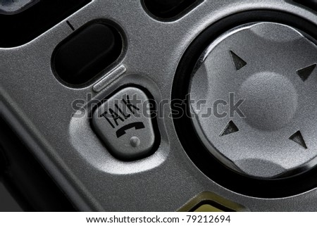 Telephone talk button