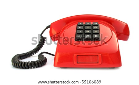 Telephone vintage red lovely phone from 1970s