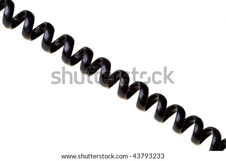 Telephone Wiring on Telephone Wire  Twisted With Spiral Stock Photo 43793233