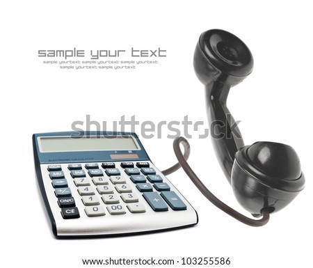 Telephone with calculator