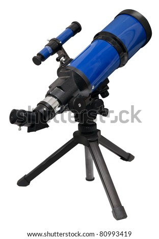 Telescope isolated on white. Clipping path included