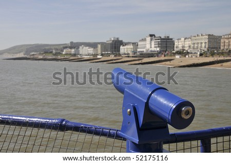 Telescope on Eastbourne pier