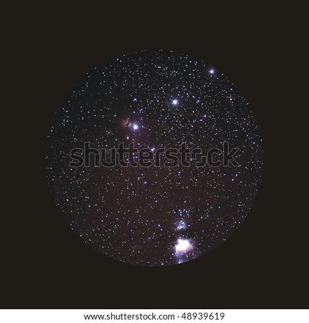 telescopic view of Orion's belt