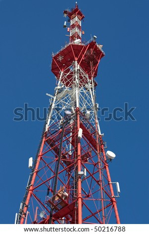Television aerial communication antenna sky tower
