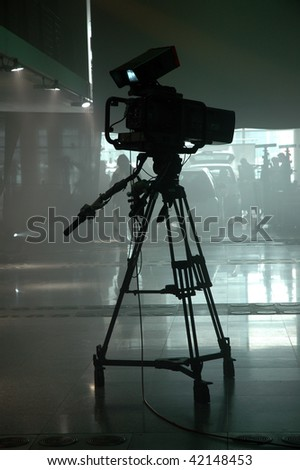television camcorder in a studio