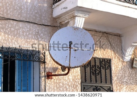 Television dish to receive international media and TV news in Tunis Tunisia