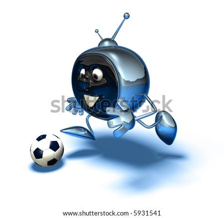 Television playing football