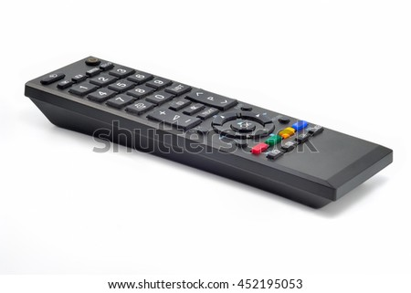Television remote control isolate on white background.