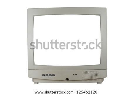 Television with white screen