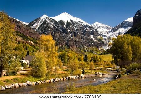 telluride mountains - stock photo