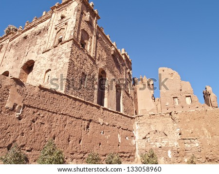 Telouet's kasbah, was the seat of the El Glaoui family's power. It is located in Telouet, close to Atlas mountain, Morocco.