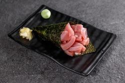 Temaki salmon japanese food sea tuna