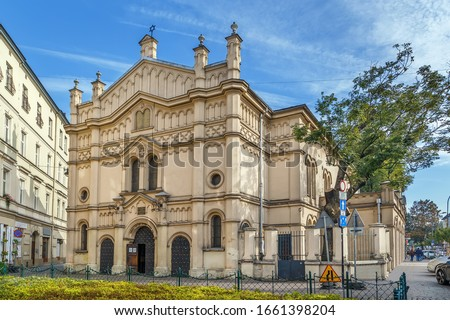 Tempel Synagogue is a synagogue in Kazimierz district in Krakow, Poland Photo stock ©