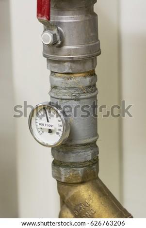 Temperature indicator circular circular. #626763206