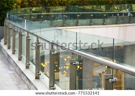 tempered laminated glass railing balustrade panels frame less ,safety glass for modern architectural buildings. #771532141