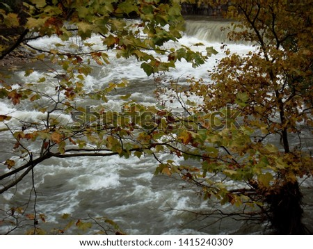 Tempestuous river in the french alps after the storm Foto stock ©