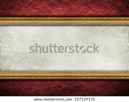 Template background - rough wall and picture frame