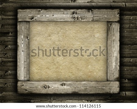 Template - canvas on wooden frame