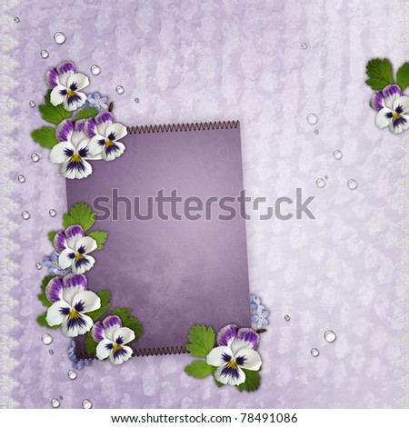 Template For Birthday Or Mother'S Day Greetings Card St