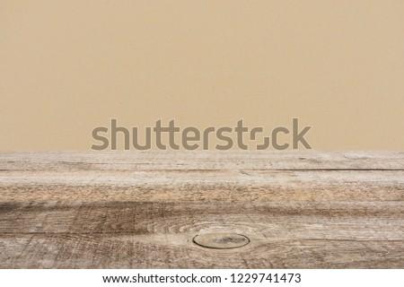 template of brown wooden floor with dark beige on background #1229741473