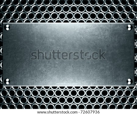 template of metal plate
