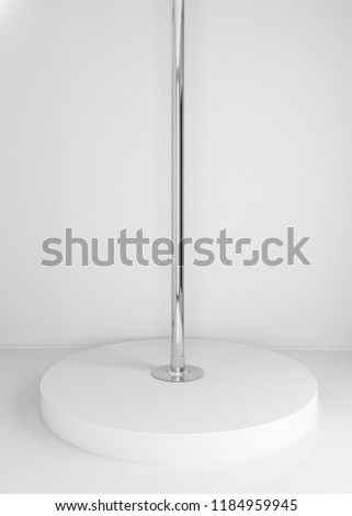 Template Pole for Pole dance with a scene on a white background. 3d rendering.