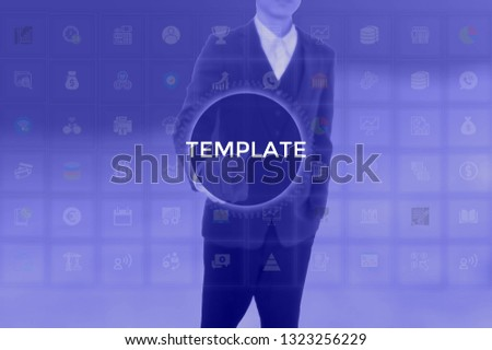 TEMPLATE - technology and business concept #1323256229