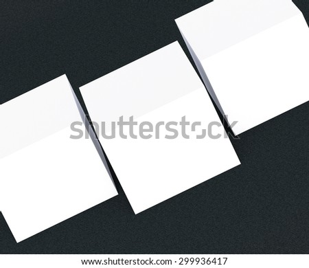 template to presentation. place for your design. many cards. stacks of paper. greeting cards. flyers. business cards. canvas background.