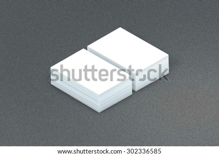 template to presentation. place for your design. many cards. stacks of paper. greeting cards. flyers. business cards. canvas background. grey background