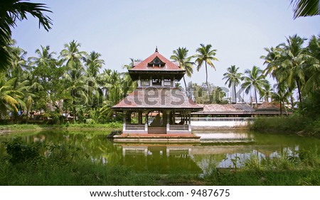 temple complex in kochi, kerala, india