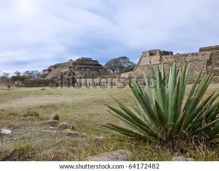 Temple complex of Monte Alban, Mexico