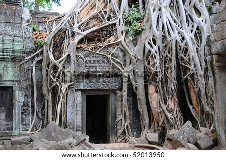 Temple doorway, Angkor Wat, Cambodia
