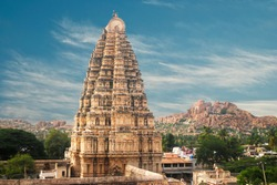 Temple in Hampi, Karnataka state, India
