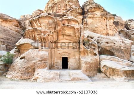 Temple in Little Petra, Siq al-Barid (Cold Canyon), Jordan