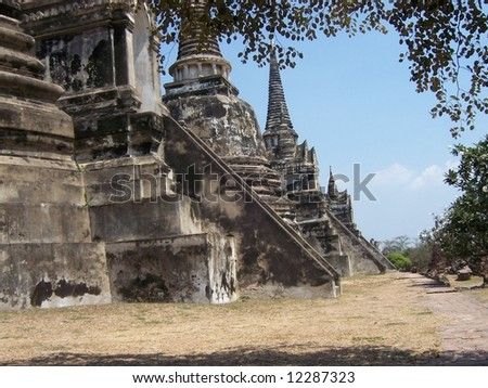 temple in thai - stock photo