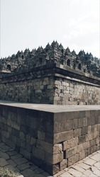 temple located in Borobudur, Magelang, Central Java, Indonesia. This temple was founded around the year 800 AD and became the largest Buddhist temple in the world.