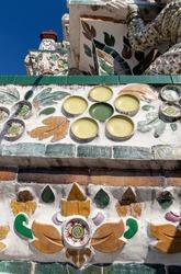 Temple mosaic at Bangkok - Thailand
