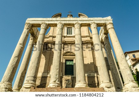 Temple of Antoninus and Faustina in the Roman Forum #1184804212