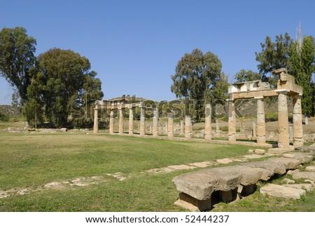Temple of Artemis at Vravrona, Greece