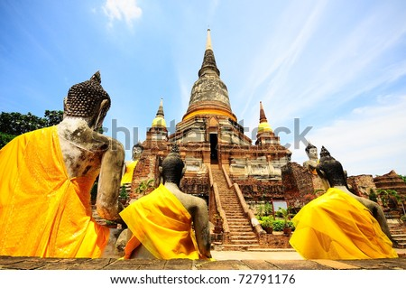 stock photo : Temple of Ayuthaya, Thailand