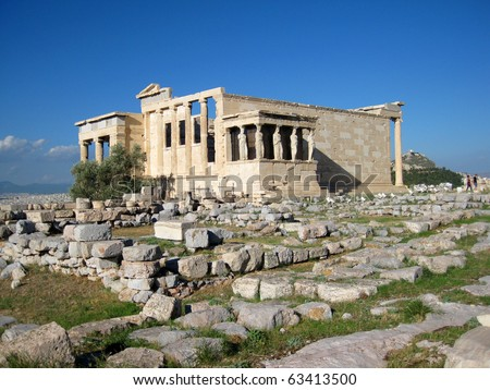 Temple of Erechtheum, Athens, Greece
