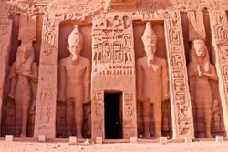 temple of hathor at abu simbel, egypt
