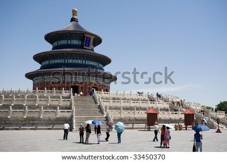 Temple of Heaven. Beijing. China. June, 2009.
