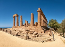 Temple of Juno, Temple of Hera Lacinia. Valley of the Temples, Agrigento, Sicily, Italy.