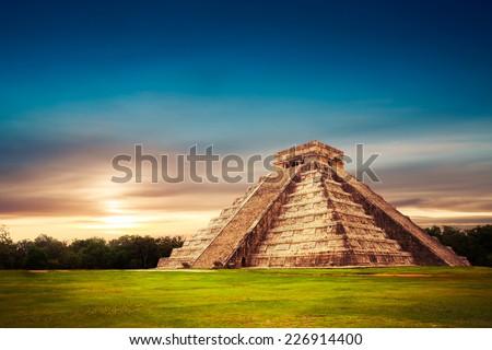 Shutterstock Temple of Kukulkan, pyramid in Chichen Itza, Yucatan, Mexico