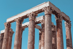 Temple of Olympian Zeus, Athens in Greece