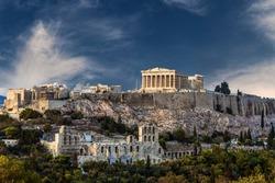 Temple of Parthenon, Athenian Acropolis, Athens, Greece