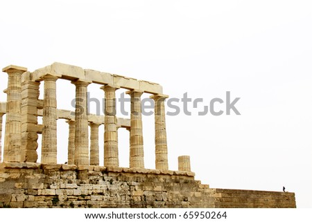 Temple of Poseidon at Cape Sounion near Athens, Greece. c 440 BC.