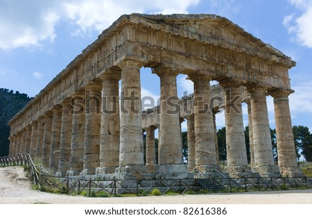 Temple of Segesta in Sicily